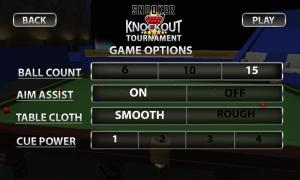 Android Snooker Knockout Tournament Screen 5