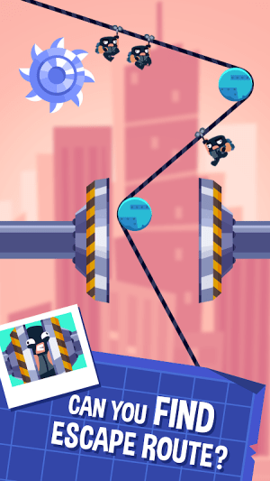 Android Rubber Robbers - Rope Raiders of the Lost Treasure Screen 1