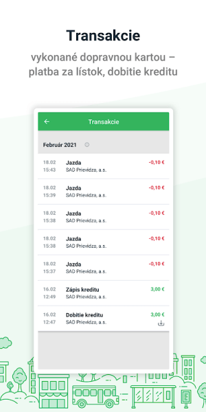 Dopravná karta v mobile 2.9.1 Screen 4