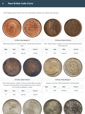 Rare Coins of India 1.0.14 Screen 1
