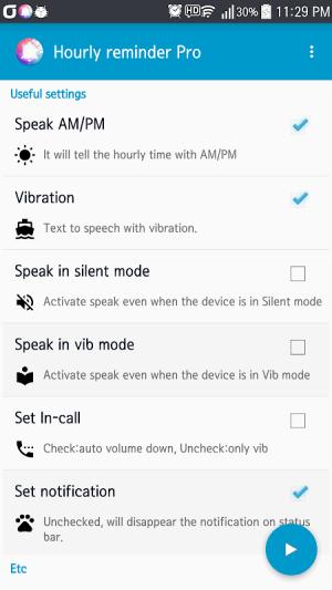 Hourly Talking Alarm Clock  Reminder Lite 2.9.8 Screen 1