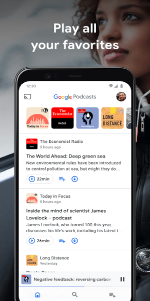 Google Podcasts: Discover free & trending podcasts 1.0.0.301897054 Screen 1