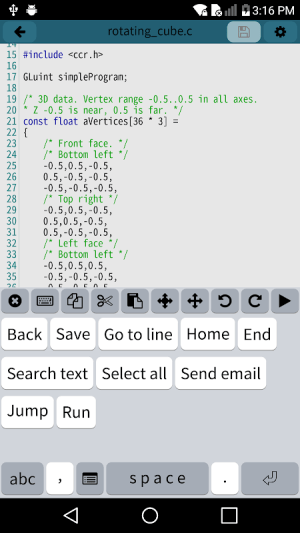 Android Mobile C [ C/C++ Compiler ] Screen 3