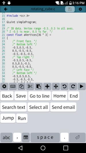 Mobile C [ C/C++ Compiler ] 2.5.1 Screen 3