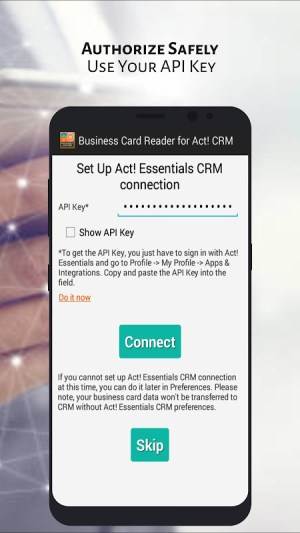 Act! CRM Business Card Reader 1.1.145c Screen 1