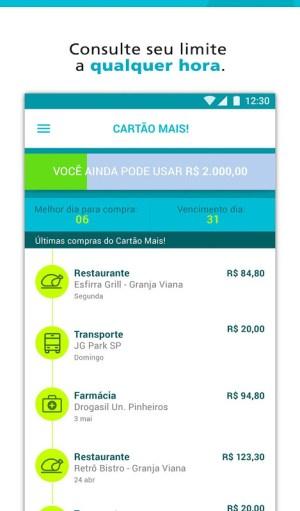 Android Cartão Mais! Screen 1