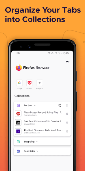 Android Firefox Browser: fast, private & safe web browser Screen 7