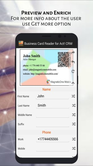 Act! CRM Business Card Reader 1.1.145c Screen 6