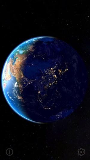 3D Earth & Real Moon. Live Wallpaper. 1.1.0 Screen 3