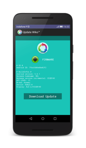 Android Update Wiko™ for Android™ Screen 1