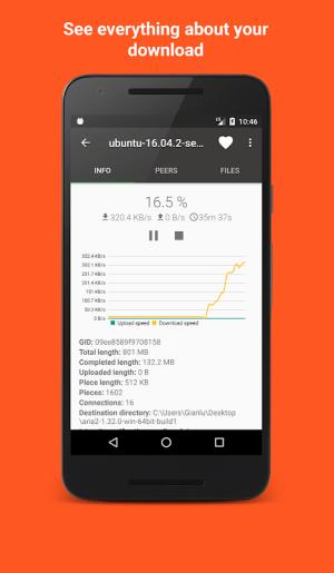 Aria2App (open source) 5.4.3 Screen 2