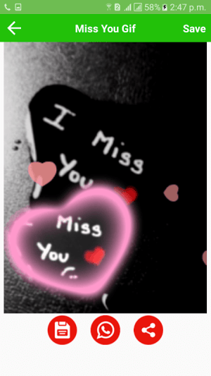 Android Miss You Gif Screen 3