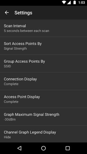 WiFi Analyzer (open-source) 2.1.1 Screen 5