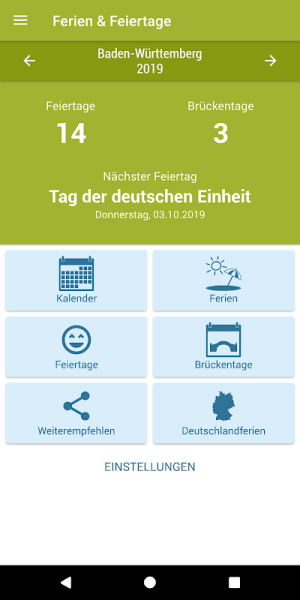 Deutsche Feiertage & Ferien 37.0 Screen 7