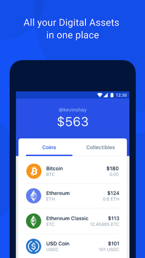Android Coinbase Wallet — Crypto Wallet & DApp Browser Screen 2