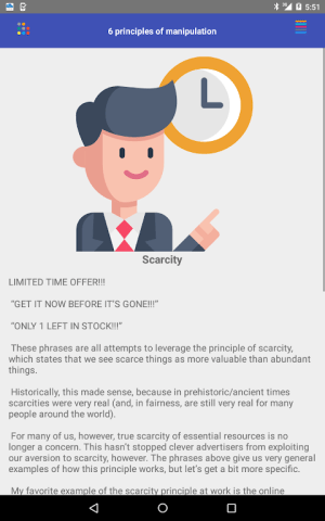 Android The 6 Principles of Manipulation Screen 19