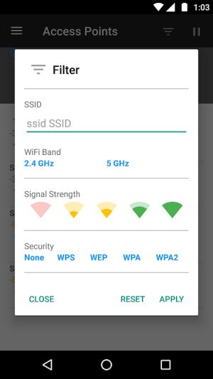 WiFi Analyzer (open-source) 2.1.1 Screen 12