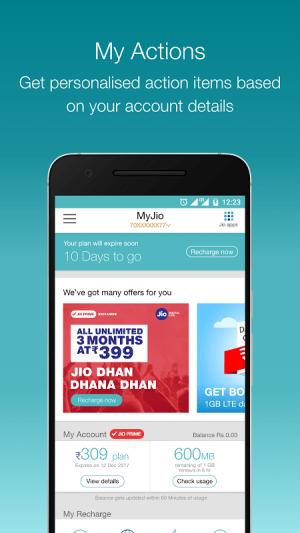 MyJio 4.1.03 Screen 3