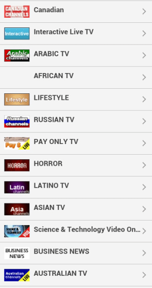 Android Watch Live TV Online Screen 2