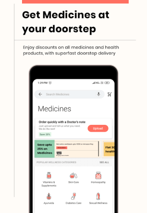 1mg - Online Medical Store & Healthcare App 11.2.0 Screen 3
