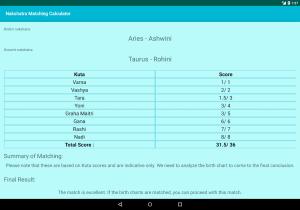 Android Nakshatra Matching Calculator | Kundli Milan Screen 1