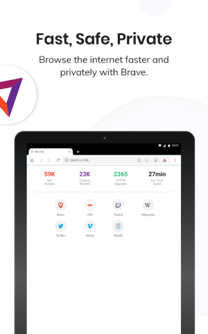 Brave Privacy Browser: Fast, safe, private browser 1.5.4 Screen 2