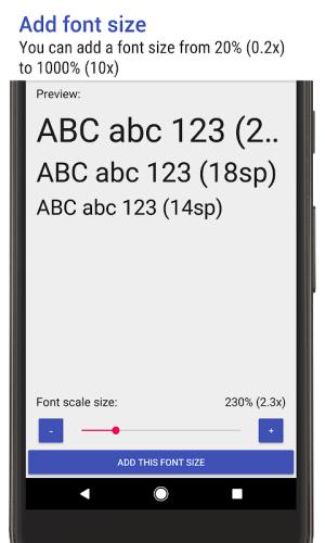 Big Font (change font size/display size) 3.21 Screen 5