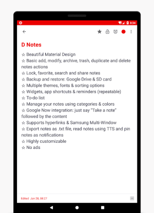 D Notes - Smart & Material - Notes, Lists & Photos 2.2.3 Screen 9