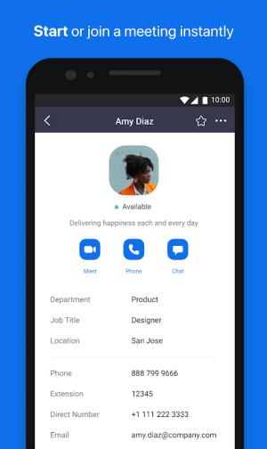 Android ZOOM Cloud Meetings Screen 11