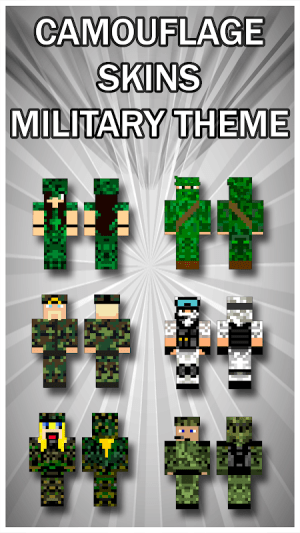 Camouflage Skins For Minecraft PE 1.2 Screen 2
