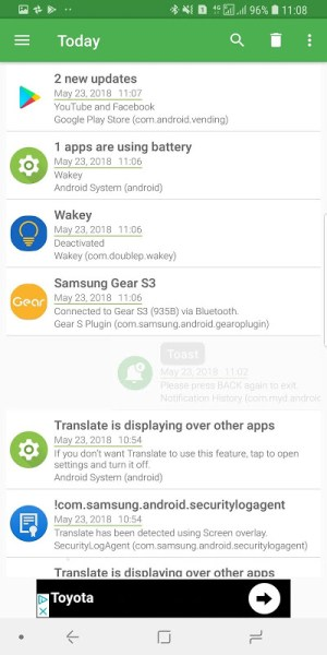 Notification History 2.8.2 Screen 4