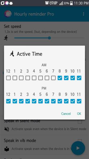Hourly Talking Alarm Clock  Reminder Lite 2.9.8 Screen 4