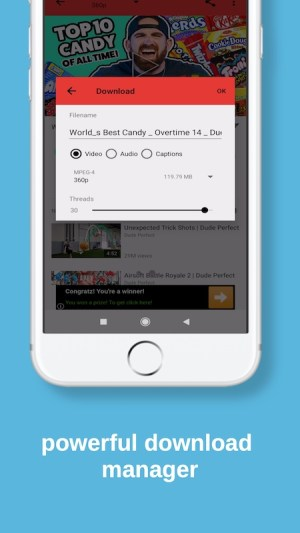 Android SnapTube YouTube Video Downloader Screen 2