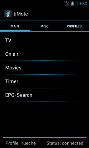 Android tiMote Screen 2