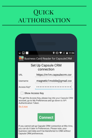 Capsule CRM Business Card Reader 1.1.145c Screen 1