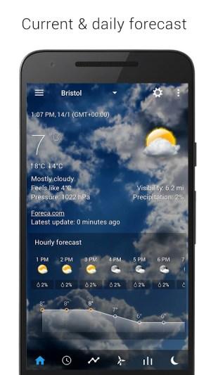 Sense V2 Flip Clock & Weather 5.50.0.1 Screen 2