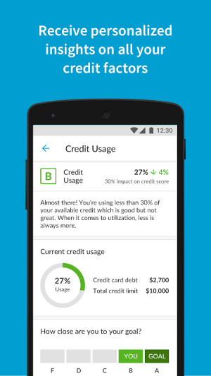 Credit Sesame 4.2.3 Screen 2