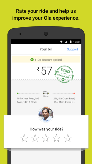 Ola cabs - Taxi, Auto, Car Rental, Share Booking 4.5.5 Screen 4