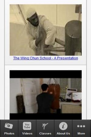 Android The Wing Chun School Screen 2