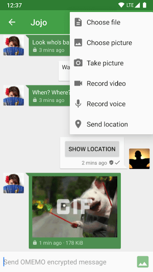 Android Conversations (Jabber / XMPP) Screen 1