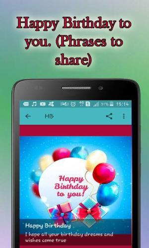Android Feliz Cumpleaños Screen 4
