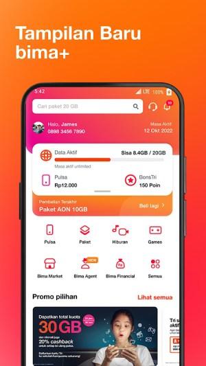 Bima+ - Buy & Check Tri Data, Game, and Rewards 4.0.1 Screen 1