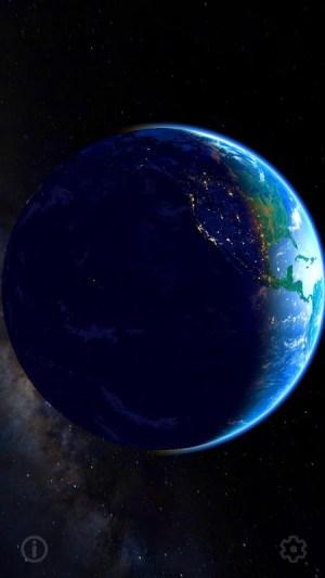 3D Earth & Real Moon. Live Wallpaper. 1.1.0 Screen 1