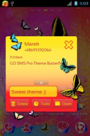 GO SMS Pro Theme Butterfly 2.0 Screen 2