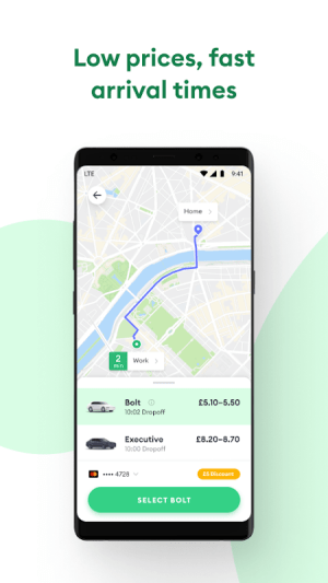 Android Bolt: Fast, Affordable Rides Screen 1