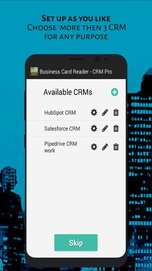 Android Business Card Reader - CRM Pro Screen 1