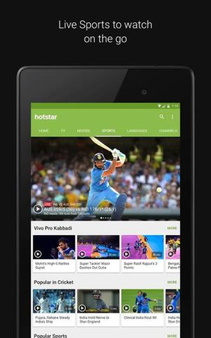 Android Hotstar Live TV Screen 5