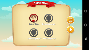 Android Super Hero Screen 2
