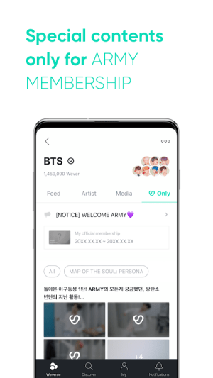 Weverse 1.2.3 Screen 6