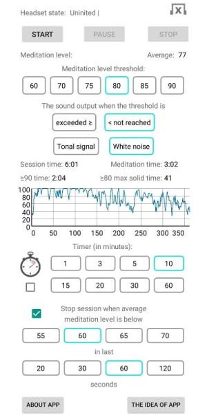 EEG Meditation 1.5 Screen 1
